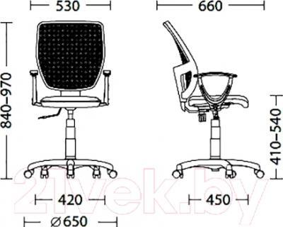 Кресло офисное Новый Стиль Betta GTP (OH/5, C-24) - размеры