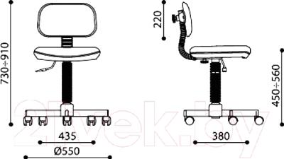 Кресло детское Новый Стиль Logica GTS BA-7903 Q