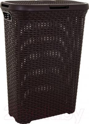 Корзина для белья Curver Natural Style 00709-210-00 / 193009 (темно-коричневый)