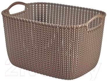 Корзина Curver Knit L 03670-X59-00 / 226165 (темно-коричневый)