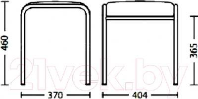 Табурет Nowy Styl Caddy Chrome (EV-09) - размеры