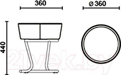 Табурет Новый Стиль Pinacolada Chrome (V-18) - размеры