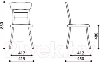 Стул Новый Стиль SE-18 (1.016 V-16) - размеры