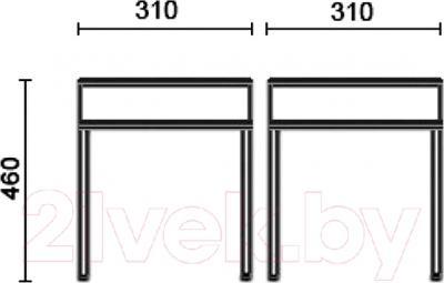 Табурет Nowy Styl Tutti Chrome (V-27) - размеры