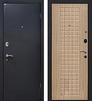Входная дверь МеталЮр М22 Черный бархат/беленый дуб (86x206, правая) -