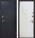 Входная дверь МеталЮр М21 Черный бархат/белый (86x206, правая) -