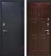 Входная дверь МеталЮр М21 Черный бархат/венге (86x206, правая) -