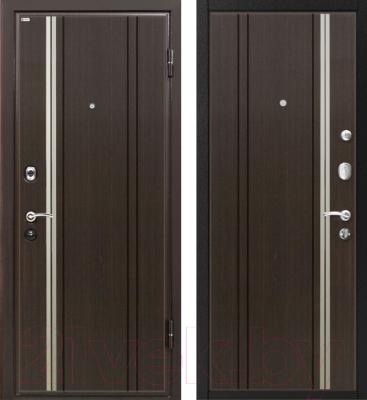 Входная дверь МеталЮр М2 Темный шоколад (86x206, правая)