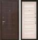 Входная дверь МеталЮр М7 Капучино мелинга/белое стекло (86x206, правая) -