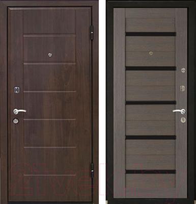 Входная дверь МеталЮр М7 Грей мелинга/белое стекло (86x206, правая)