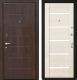 Входная дверь МеталЮр М7 Эшвайт мелинга/черное стекло (86x206, правая) -