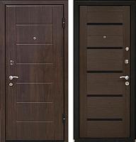 Входная дверь МеталЮр М7 Венге мелинга/черное стекло (86x206, правая) -