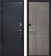 Входная дверь МеталЮр М24 Черный бархат/грей (86x206, левая) -