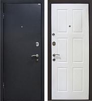 Входная дверь МеталЮр М21 Черный бархат/белый (86x206, левая) -