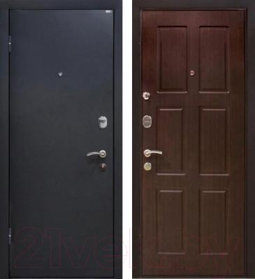 Входная дверь МеталЮр М21 Черный бархат/венге (86x206, левая)