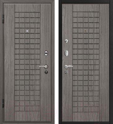 Входная дверь МеталЮр М4 Грей/грей (86x206, левая)