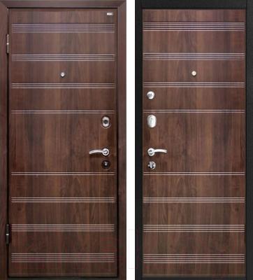 Входная дверь МеталЮр М1 Темный шоколад (86x206, левая)