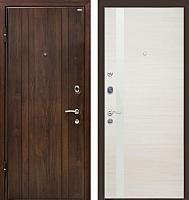 Входная дверь МеталЮр М6 Эшвайт кроскут/белый глянец (86x206, левая) -