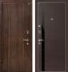 Входная дверь МеталЮр М6 Венге кроскут/черный глянец (86x206, левая) -