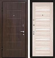 Входная дверь МеталЮр М7 Капучино мелинга/белое стекло (86x206, левая) -