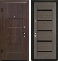 Входная дверь МеталЮр М7 Грей мелинга/белое стекло (86x206, левая) -