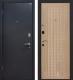 Входная дверь МеталЮр М22 Черный бархат/беленый дуб (96x206, левая) -
