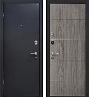 Входная дверь МеталЮр М24 Черный бархат/грей (96x206, левая) -