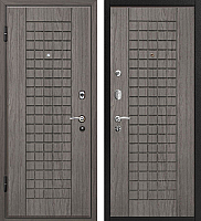 Входная дверь МеталЮр М4 Грей/грей (96x206, левая) -