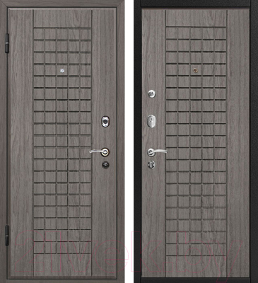 Входная дверь МеталЮр М4 Грей/грей (96x206, левая)