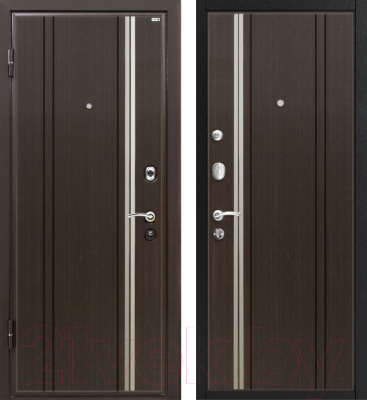 Входная дверь МеталЮр М2 Темный шоколад (96x206, левая)