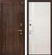 Входная дверь МеталЮр М6 Эшвайт кроскут/белый глянец (96x206, левая) -