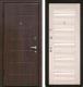 Входная дверь МеталЮр М7 Капучино мелинга/белое стекло (96x206, левая) -
