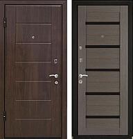 Входная дверь МеталЮр М7 Грей мелинга/белое стекло (96x206, левая) -