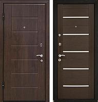Входная дверь МеталЮр М7 Венге мелинга/белое стекло (96x206, левая) -