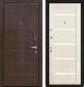 Входная дверь МеталЮр М7 Эшвайт мелинга/черное стекло (96x206, левая) -
