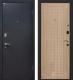 Входная дверь МеталЮр М22 Черный бархат/беленый дуб (96x206, правая) -