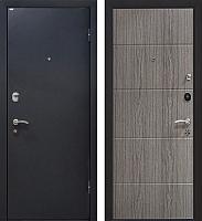 Входная дверь МеталЮр М24 Черный бархат/грей (96x206, правая) -