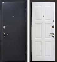 Входная дверь МеталЮр М21 Черный бархат/белый (96x206, правая) -
