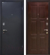 Входная дверь МеталЮр М21 Черный бархат/венге (96x206, правая) -