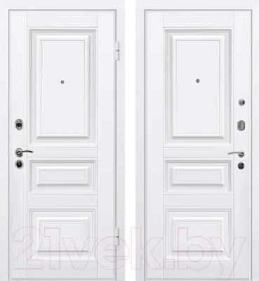 Входная дверь МеталЮр М11 Белый/белый (96x206, правая)