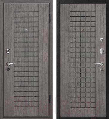 Входная дверь МеталЮр М4 Грей/грей (96x206, правая)