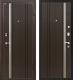 Входная дверь МеталЮр М2 Темный шоколад (96x206, правая) -