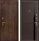 Входная дверь МеталЮр М6 Венге кроскут/черный глянец (96x206, правая) -