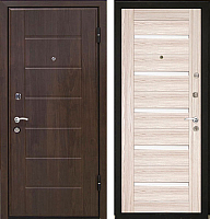 Входная дверь МеталЮр М7 Капучино мелинга/белое стекло (96x206, правая) -