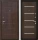 Входная дверь МеталЮр М7 Венге мелинга/белое стекло (96x206, правая) -