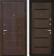 Входная дверь МеталЮр М7 Венге мелинга/черное стекло (96x206, правая) -