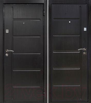 Входная дверь Йошкар МДФ/МДФ 12 мм Венге (86x206, правая)
