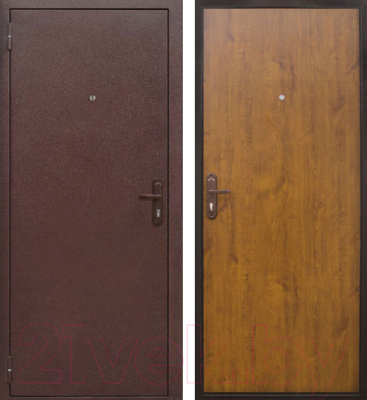 Входная дверь Йошкар Стройгост 5-1 Золотистый дуб (98x206, левая)
