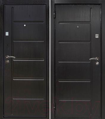 Входная дверь Йошкар МДФ/МДФ 12 мм Венге (96x206, левая)