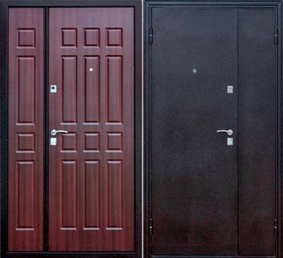 Входная дверь Йошкар Венге двухстворчатая (96x206, левая)